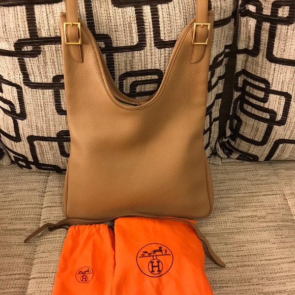 882bfc082c05 Hermes Handbags - Hermes Tabac Camel PM Clemence Leather Massai